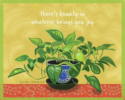 Beauty In Joy Art Print by Susan Spangler