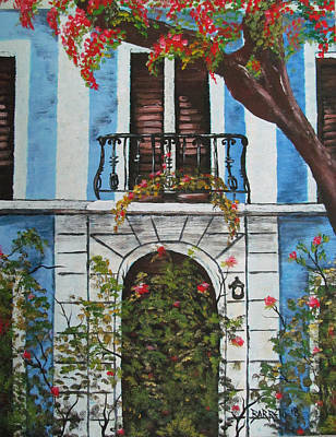 Painting - Beauty In Old San Juan by Gloria E Barreto-Rodriguez