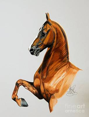 Sirtainly Stylish  - Saddlebred Art Print by Cheryl Poland