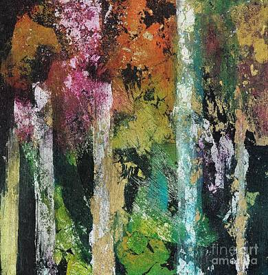 Painting - Beauty In The Abstract Forest by Frances Marino