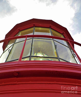 Photograph - Beauty In The Lighthouse Lens by D Hackett
