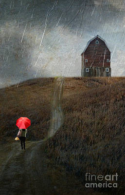 With Red Photograph - Beauty In The Silver Rain by AJ Yoder