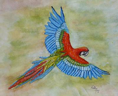 Painting - Beauty In The Sky ... Parrot by Kelly Mills