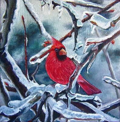 Snowy Day Painting - Beauty In The Storm by Sheila Vander Wier