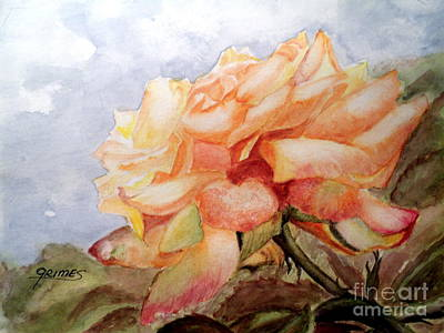 Painting - Beauty In Yellow by Carol Grimes