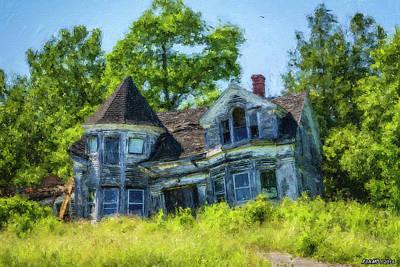 Rural Decay Digital Art - Beauty Lost  by Ken Morris