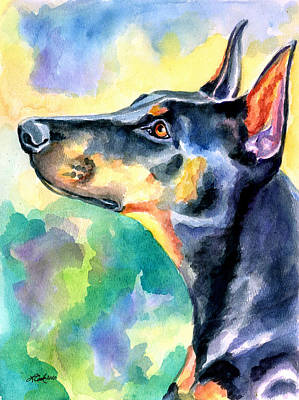 Doberman Pinscher Painting - Beauty by Lyn Cook