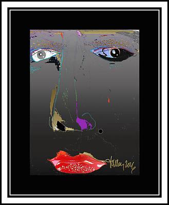 Digital Art - Beauty Mark - Black by Larry Talley