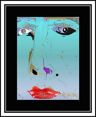Digital Art - Beauty Mark - Blue by Larry Talley