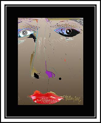 Digital Art - Beauty Mark - Brown by Larry Talley