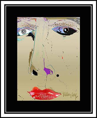 Digital Art - Beauty Mark - Gold by Larry Talley