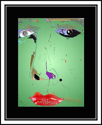 Digital Art - Beauty Mark - Green by Larry Talley