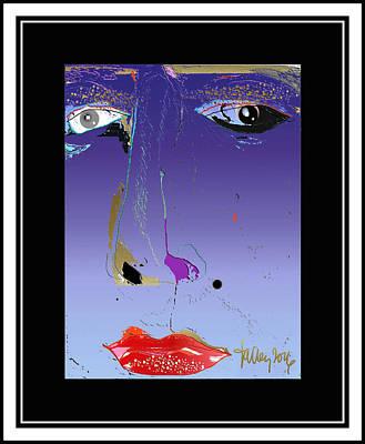 Digital Art - Beauty Mark - Purple by Larry Talley