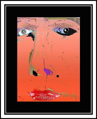 Digital Art - Beauty Mark - Red by Larry Talley