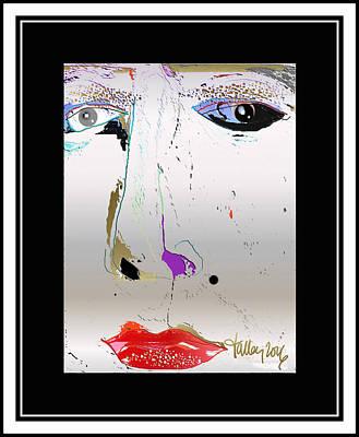 Digital Art - Beauty Mark - Silver by Larry Talley