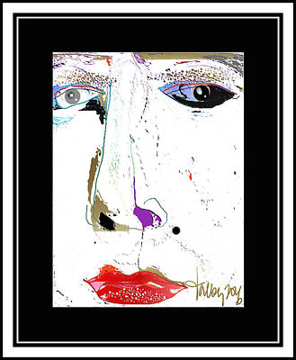 Painting - Beauty Mark - White by Larry Talley