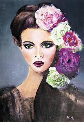 Painting - Beauty Model 1 by Vesna Martinjak