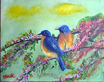 Painting - Beauty Of Birds by M Bhatt