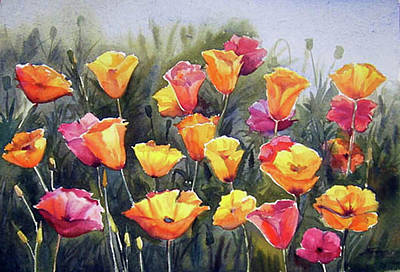 Painting - Beauty Of Color Poppies by Samiran Sarkar
