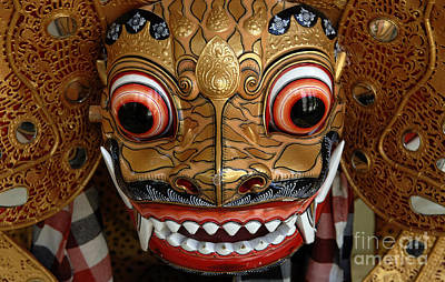 Photograph - Beauty Of Masks Bali Indonesia 1 by Bob Christopher