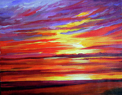 Painting - Beauty Of Sunset by Samiran Sarkar