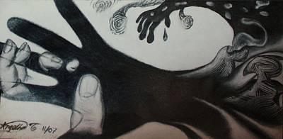 Fingerprint Drawing - Beauty Of Thy Handiwork by Angelina G T