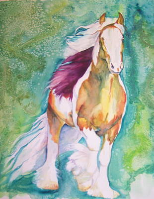 Art Print featuring the painting Beauty by P Maure Bausch