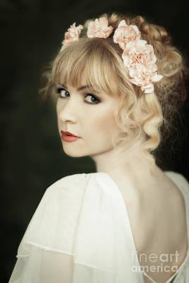 Beauty Portrait Print by Amanda Elwell