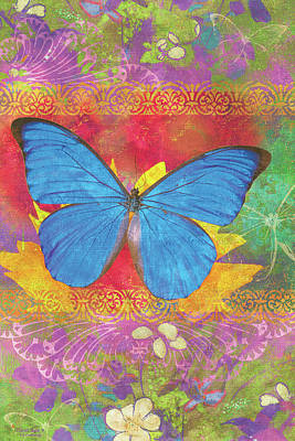 Butterfly Flowers Painting - Beauty Queen Butterfly by JQ Licensing