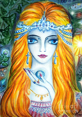 Planet Fantastic Painting - Beauty Queen Of The Land Of Light by Sofia Metal Queen