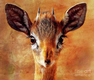 Gazelle Painting - Beauty by Sarah Kirk