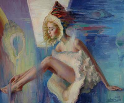 Painting - Beauty Shell by Serguei Zlenko