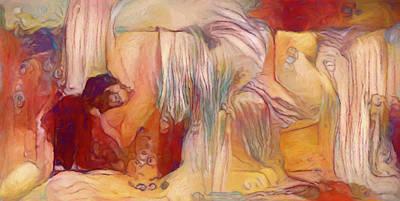 Painting - Beauty Sleep Abstract Realism by Georgiana Romanovna