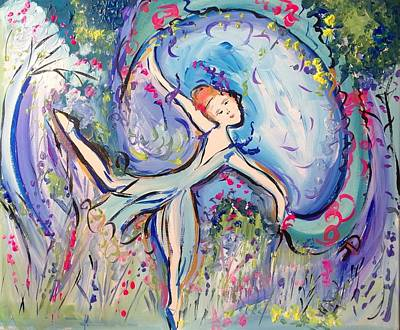 Painting - Beauty Unveiled Ballet  by Judith Desrosiers