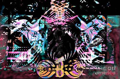 Bass Digital Art - Beauty Vs Noise Tribute 3 by Andrew Kaupe