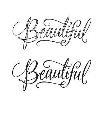 Bold Style Photograph - Beauul Lettering - Ai by Gillham Studios