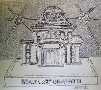 Drawing - Beaux Art Graffiti by William Tilton