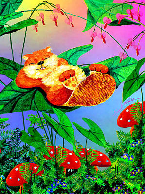 Beaver Painting - Beaver Bedtime by Hanne Lore Koehler
