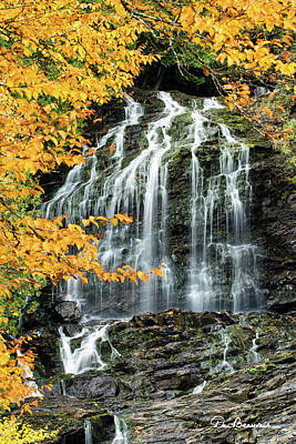 Dan Beauvais Royalty-Free and Rights-Managed Images - Beaver Brook Falls 8918 by Dan Beauvais