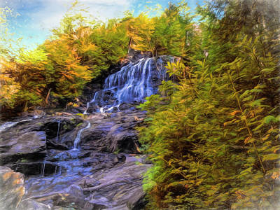Digital Art - beaver brook falls,New Hampshire.  by Rusty R Smith