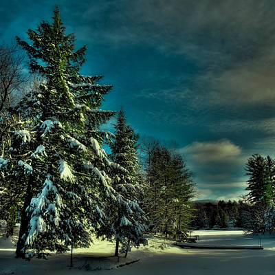 Winter Scenes Photograph - Beaver Brook Outlet by David Patterson