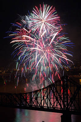 Photograph - Beaver County Fireworks  by Emmanuel Panagiotakis