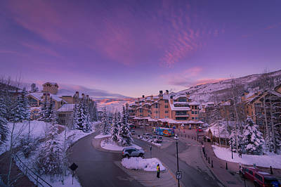 Beaver Creek Village Sunset Art Print