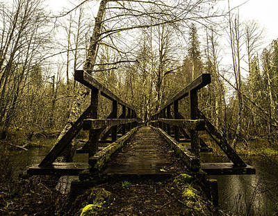 Baker Island Photograph - Beaver Lake Bridge by Thomas Ashcraft