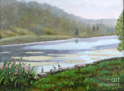 Painting - Beaver Pond by Al Hunter