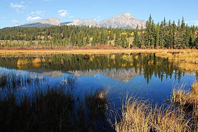 Photograph - Beaver Pond And Pyramid Mountain by Larry Ricker
