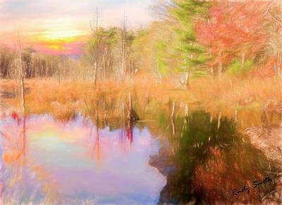 Digital Art - Beaver Pond In Autumn. by Rusty R Smith