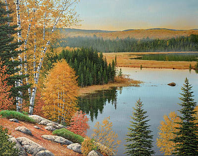 Painting - Beaver Pond Lookout by Jake Vandenbrink