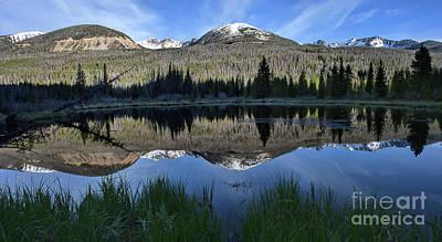 Photograph - Beaver Pond Reflection by Jim Garrison