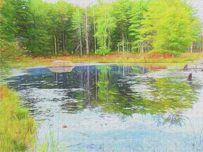 Digital Art - Beaver Pond Reflections by Rusty R Smith